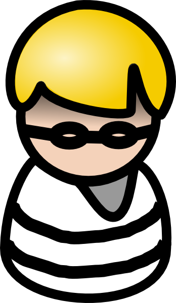 black and white library Clip art at clker. Burglar clipart