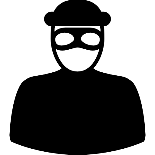 clip art royalty free library Burglar clipart mask. Unrecognizable robber with eyes