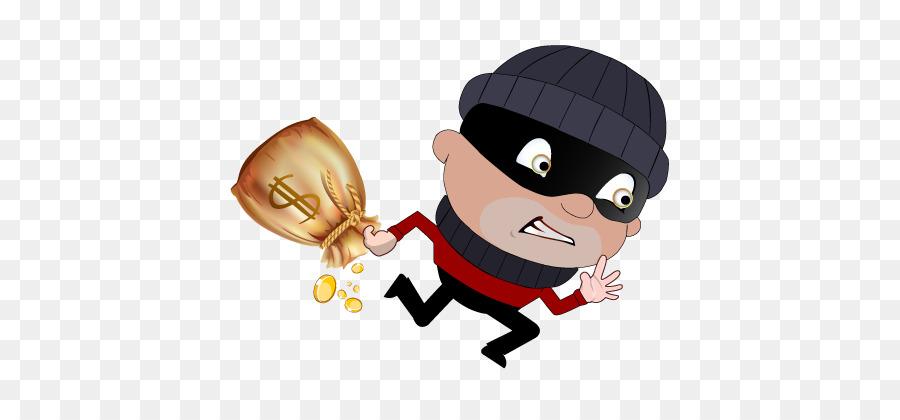 jpg black and white Cartoon illustration thief . Burglar clipart theives.