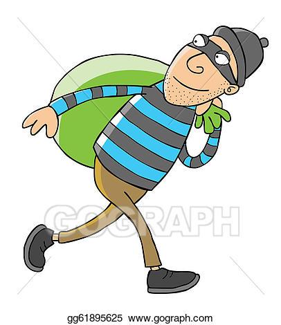 svg black and white Clip art vector thief. Burglar clipart theives.