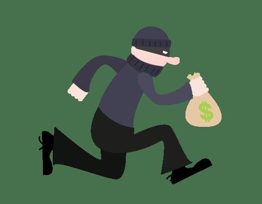 jpg black and white stock running thief clipart #67146780