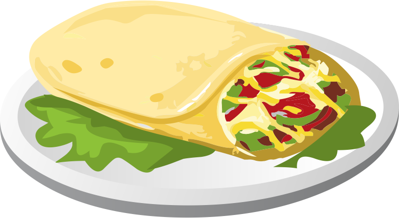 banner transparent library Mexican . Burrito clipart.