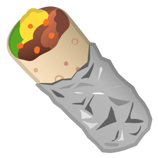 png  google android oreo. Burrito clipart.