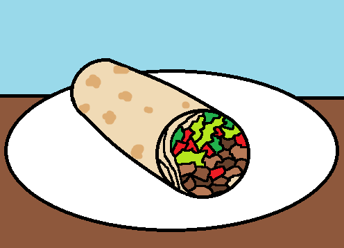 clipart royalty free library Library . Burrito clipart clip art.
