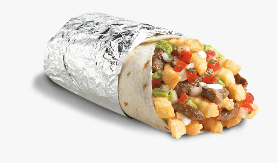 png free library Del taco fries . Burrito clipart transparent background.