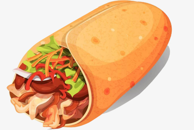 clipart library Burrito clipart transparent background. Mexican burritos mexico biscuits.