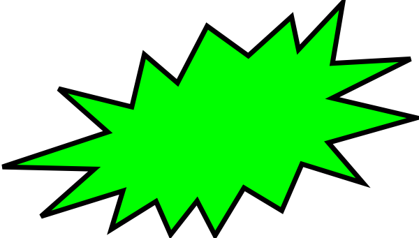 png transparent library Green Burst Clip Art at Clker