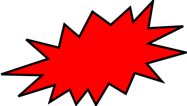 clipart black and white stock Red clip art at. Burst clipart.