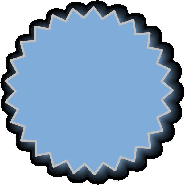 jpg royalty free library Burst clipart blue starburst. Outline clip art at.