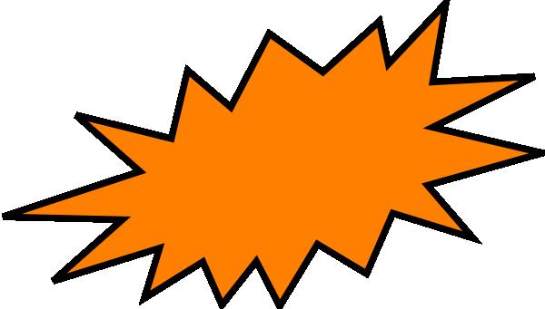 image freeuse Orange Burst Clip Art at Clker