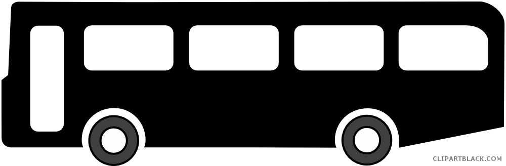 clipart library download Silhouette clipartblack com transportation. Bus black and white clipart