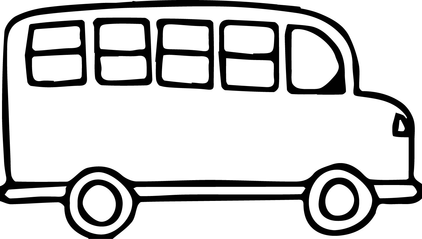 free Free download best . Bus black and white clipart.