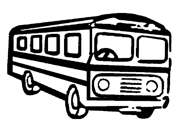 download Transparent png pictures free. Bus black and white clipart