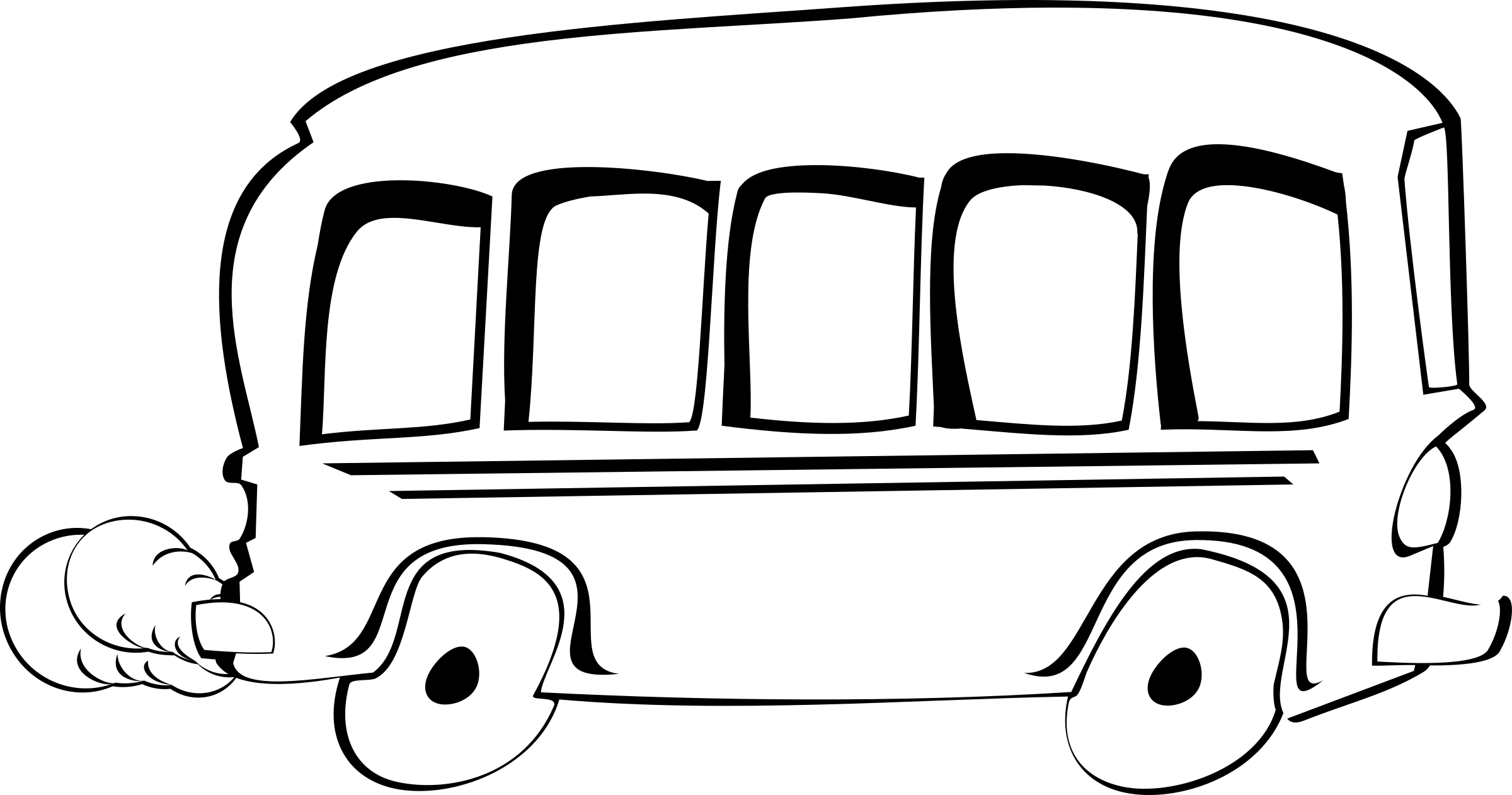 graphic freeuse download Bus black and white clipart. Remixed big image png