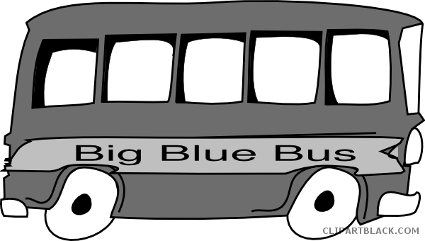 clip art transparent stock Bus black and white clipart. Grayscale clipartblack com transportation