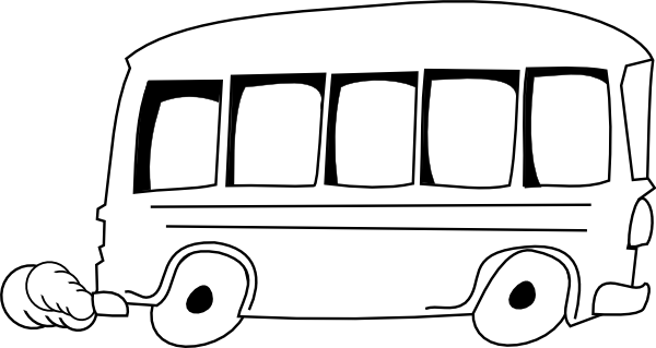 graphic royalty free Clip art at clker. Bus black and white clipart