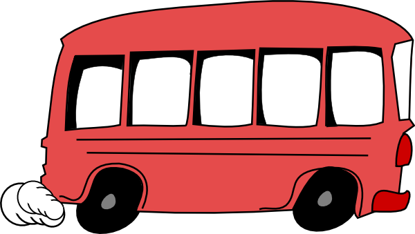 freeuse stock Red clip art at. Bus clipart