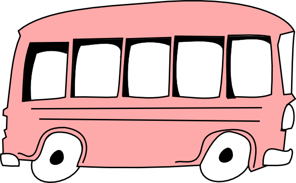 png royalty free download Bus clipart. Pink clip art vector