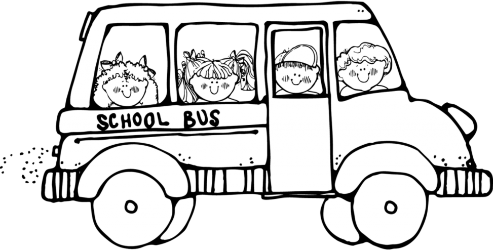 image royalty free stock School clip art throughout. Bus black and white clipart