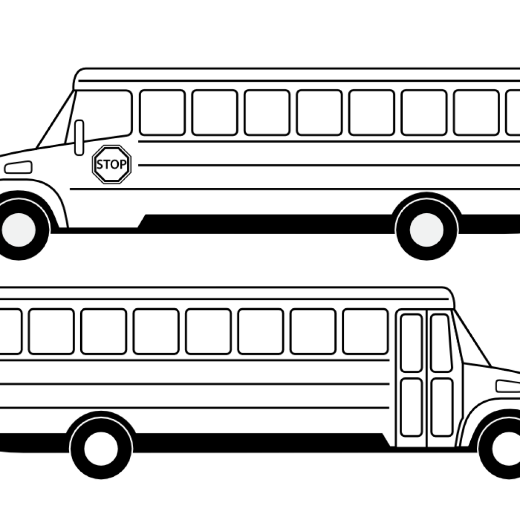 freeuse download Vector bus black and white. Clipart fall hatenylo com
