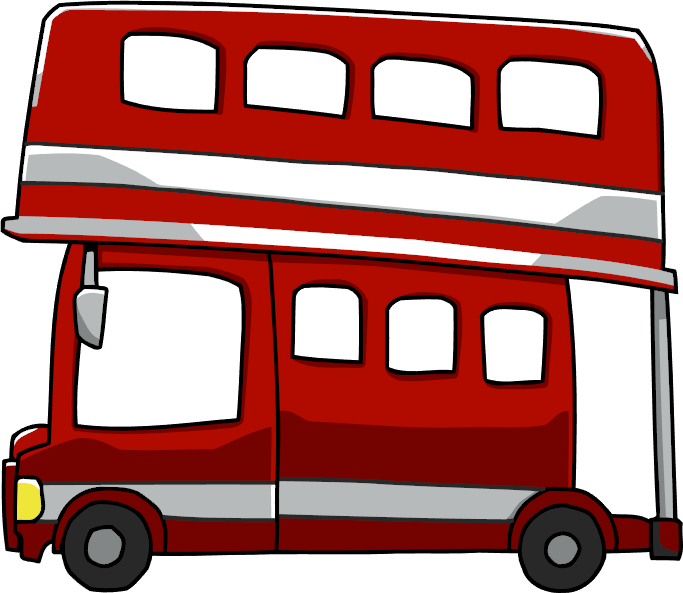 clipart free library Image png scribblenauts wiki. Bus clipart double decker bus.