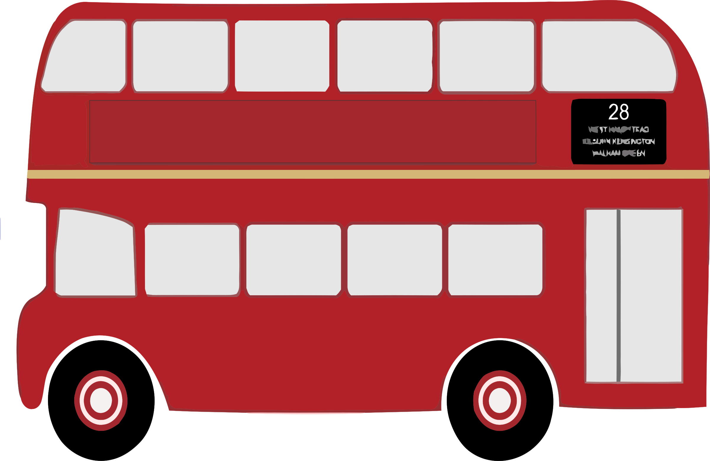 picture library library Bus clipart double decker bus. Big image png.