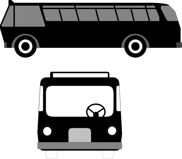 banner black and white library Clipart trip free on. Vector bus transit