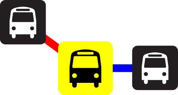 image library library Station Bus Route Clip Art at Clker
