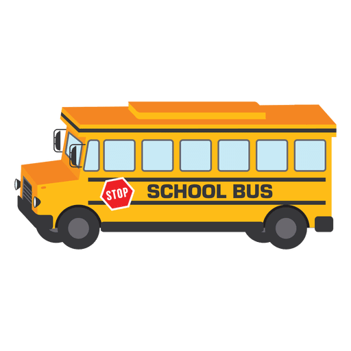 vector transparent download School illustration png svg. Vector bus transparent