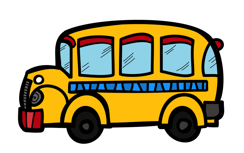 jpg black and white download Vector bus animated.  clipart transparent background