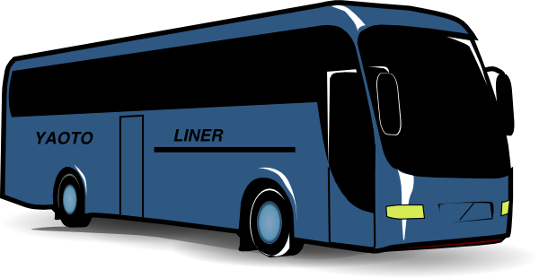 svg royalty free Blue Bus Clip Art at Clker