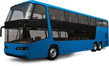 vector free Blue Bus PNG