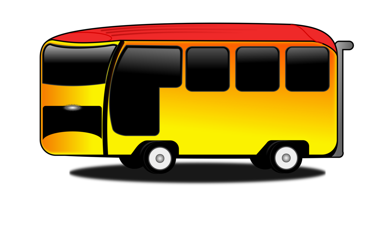 vector black and white library School bus yellow Van Transport free commercial clipart