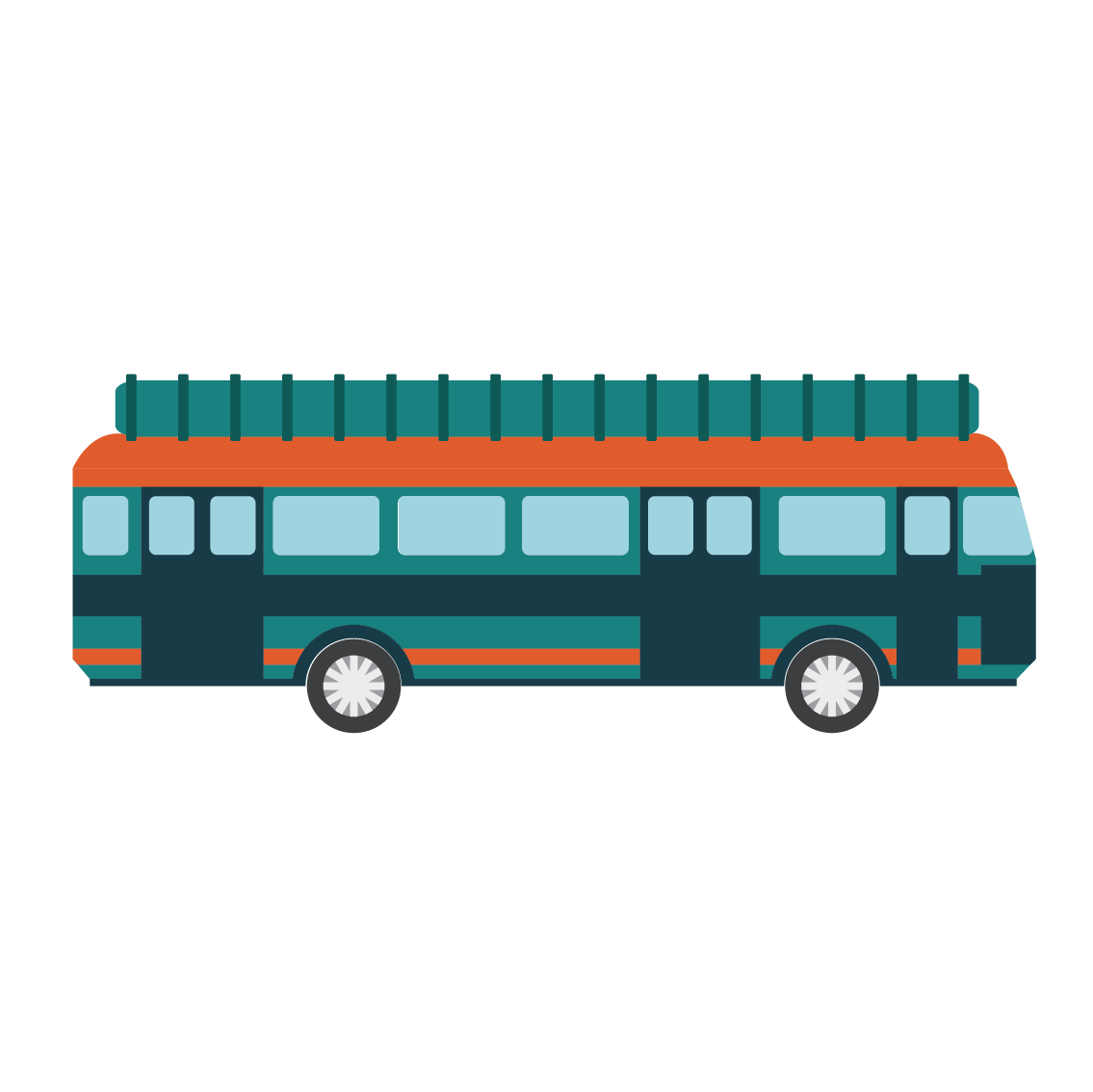 clip black and white download Flat png download . Vector bus transport