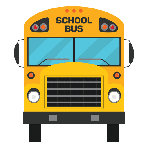 banner royalty free library Flat illustrated school bus silhouette