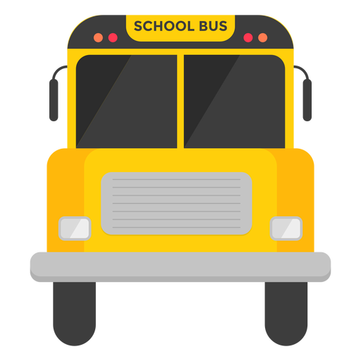 banner free download Vector bus yellow. School front view illustration