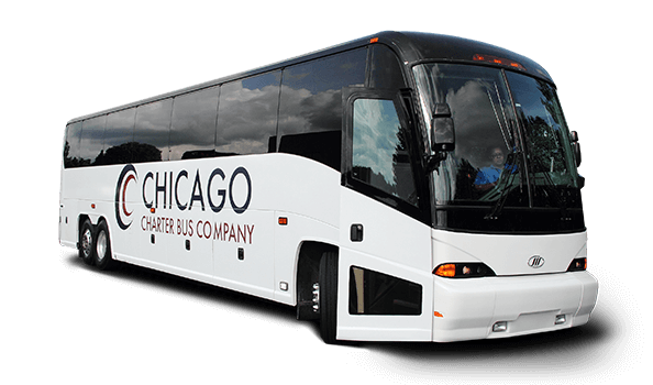 graphic black and white stock Chicago Charter Bus Company