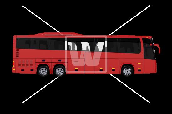 clip Tour Bus Side View PNG