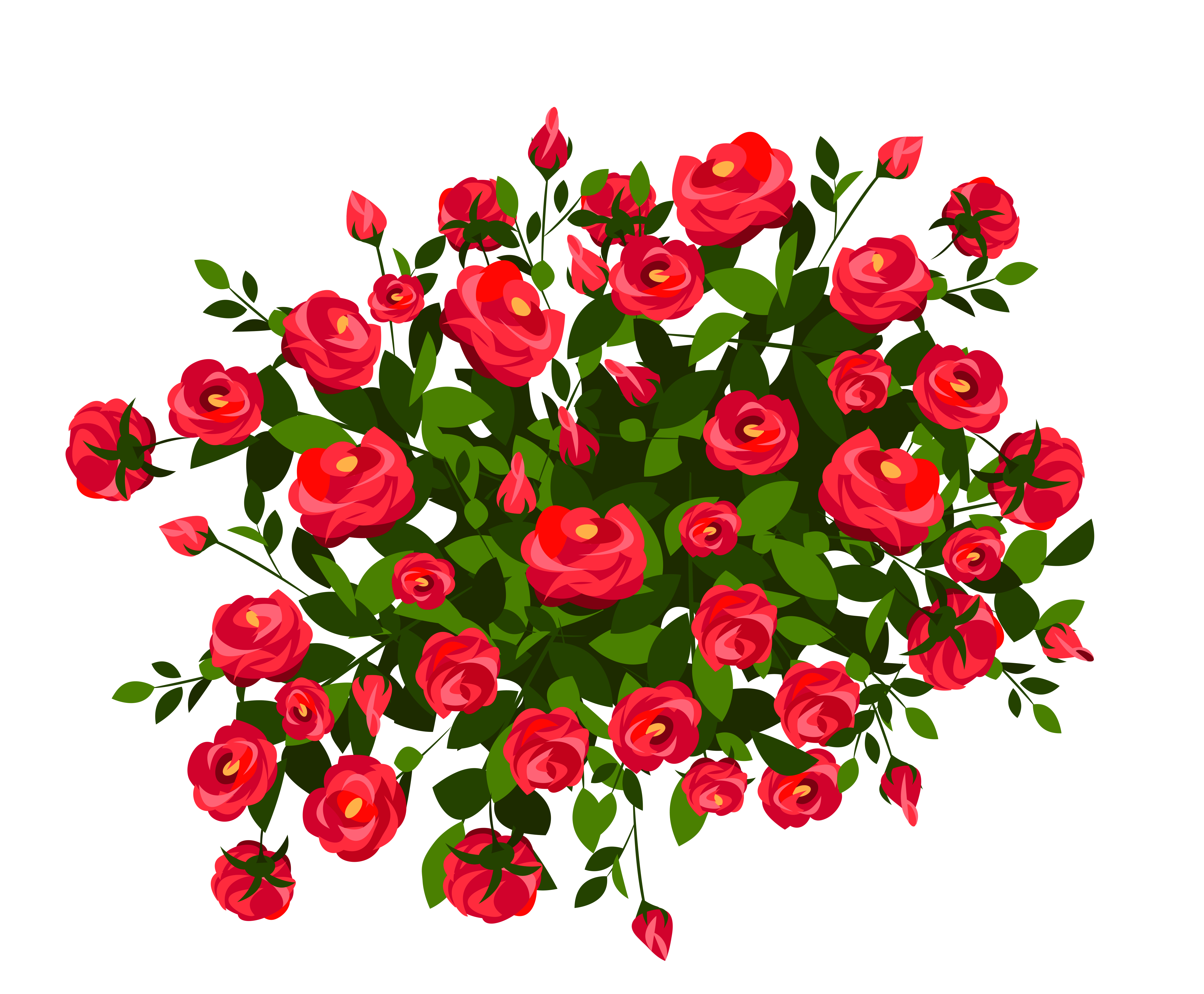 clip black and white download Red rose png image. Bush clipart transparent flower.