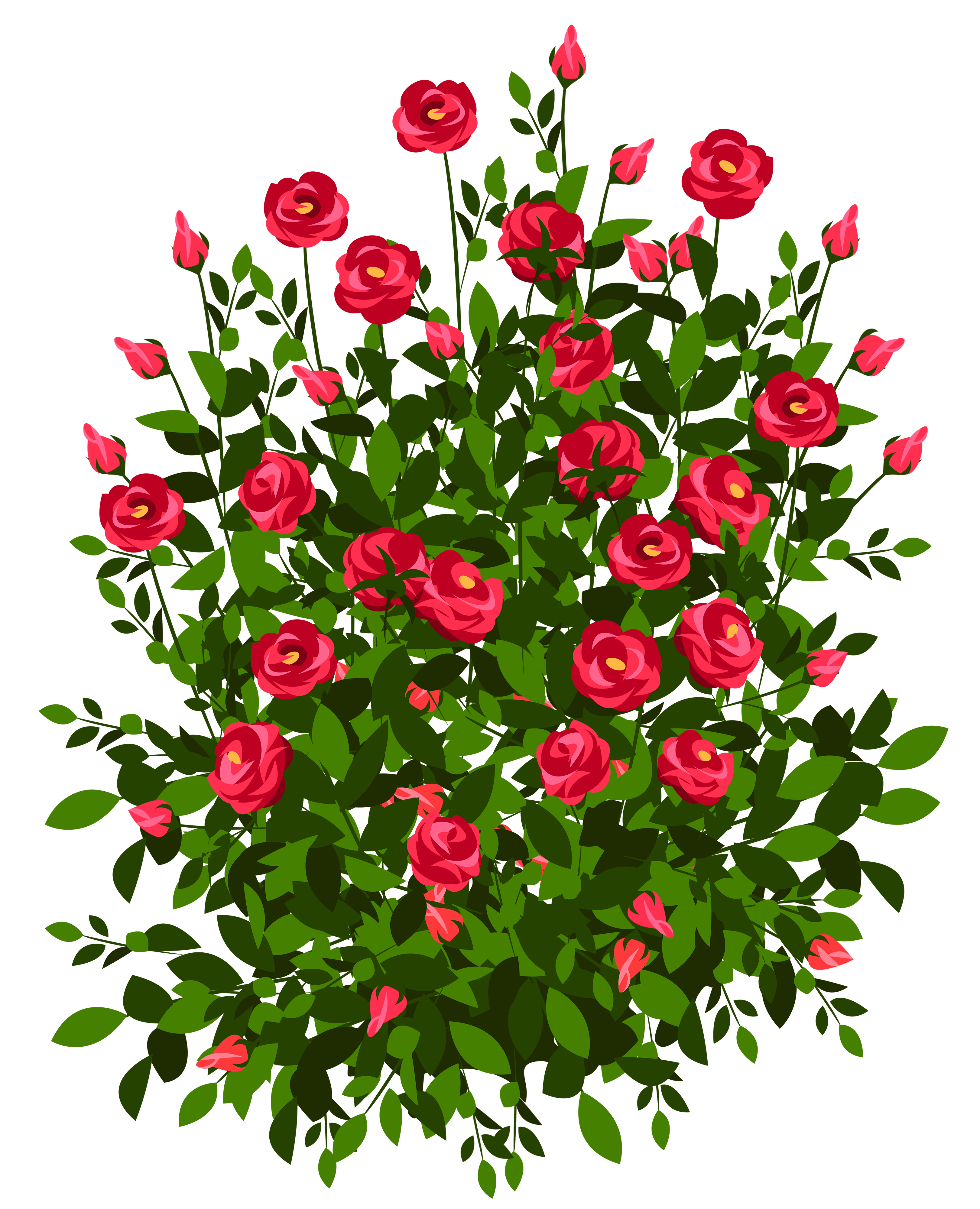 clip art royalty free library Bush clipart transparent flower. Red rose png picture.