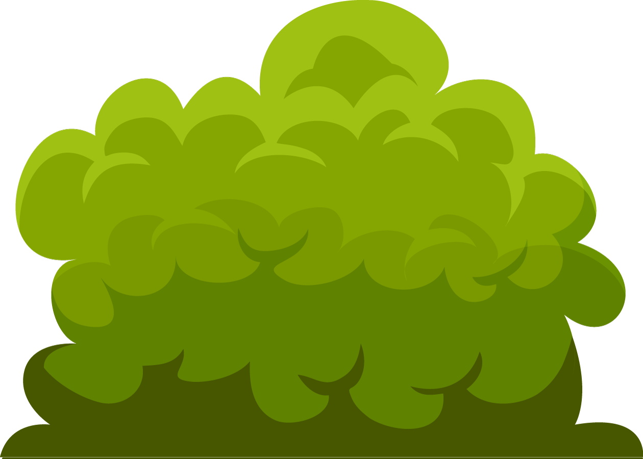 free download  collection of bush. Vector bushes