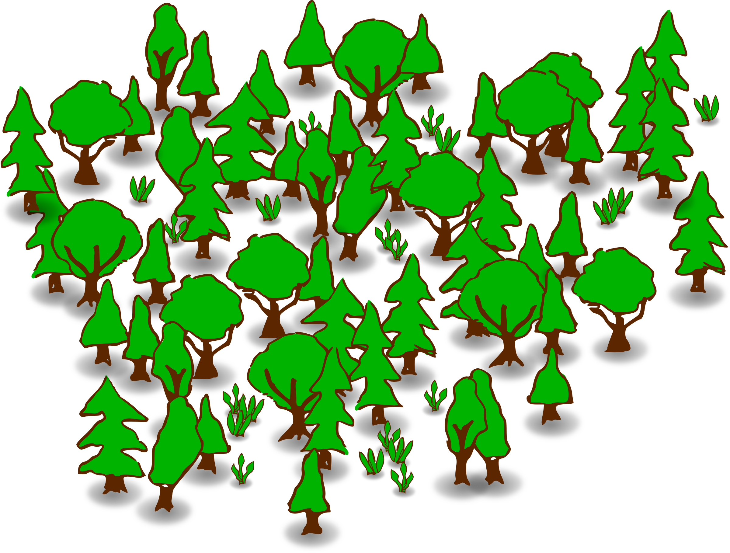 clip art royalty free stock Bushes clipart forest. Free clip art bay.