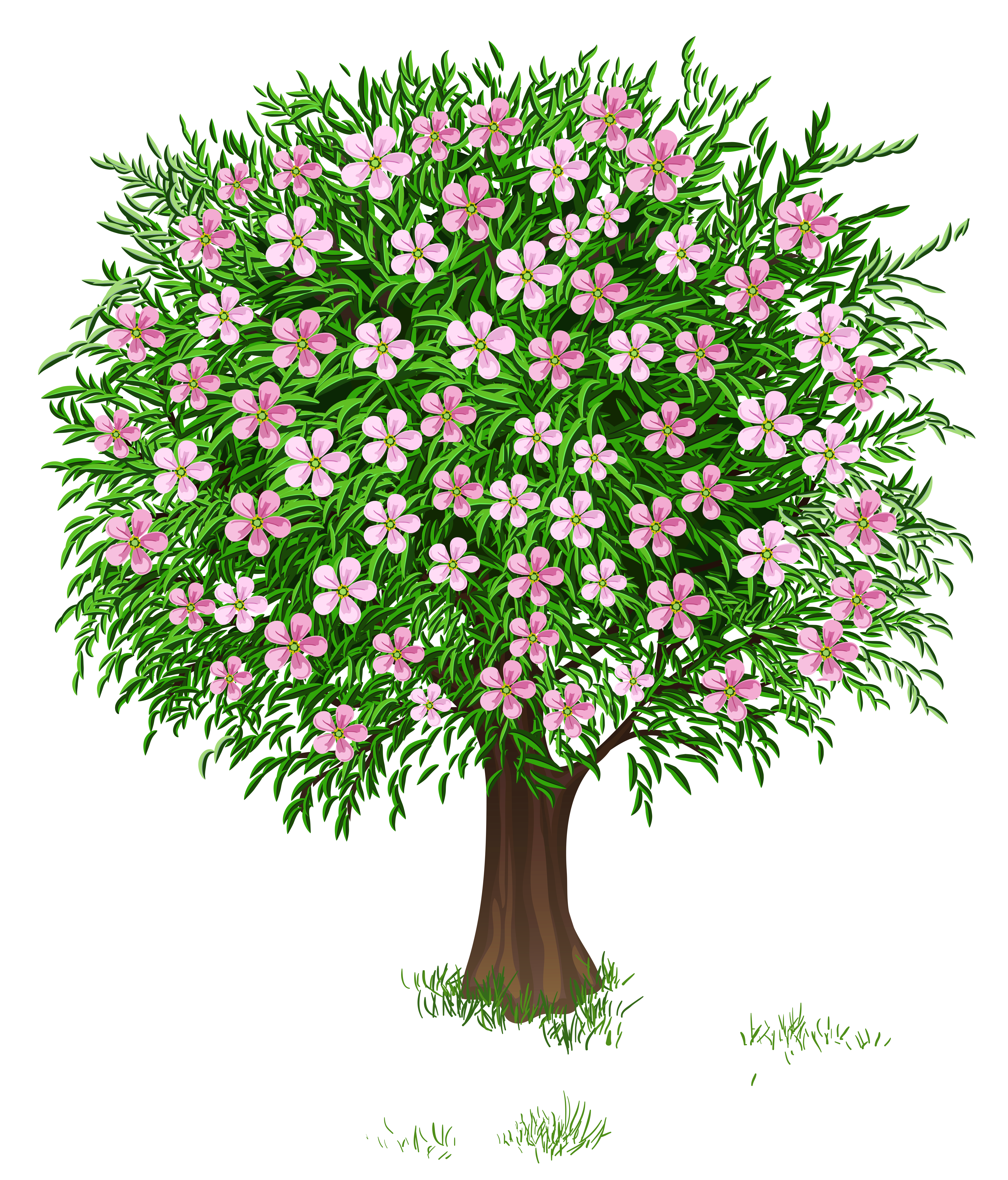 clip art transparent stock Tree free on dumielauxepices. Bushes clipart lot flower