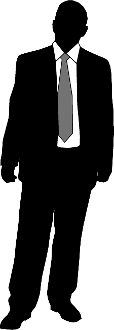 clip art royalty free stock Business Person Silhouette