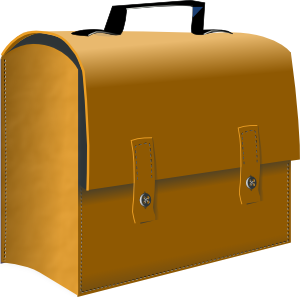 vector stock Business clipart suitcase. Leather clip art at