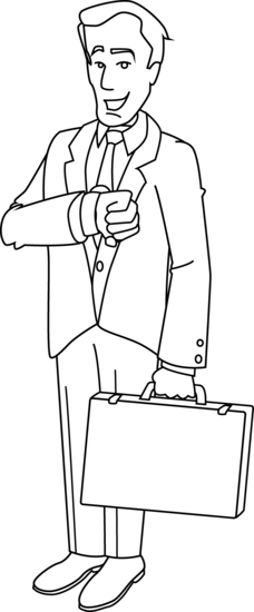 graphic black and white library Businessman Coloring Pages Clipart