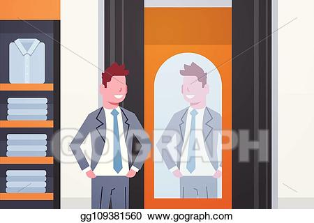picture download Eps illustration trying on. Businessman clipart elegant man.