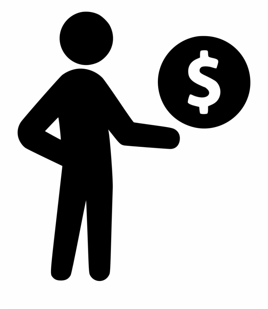 clip black and white library Businessman clipart salary. Sign free png images.