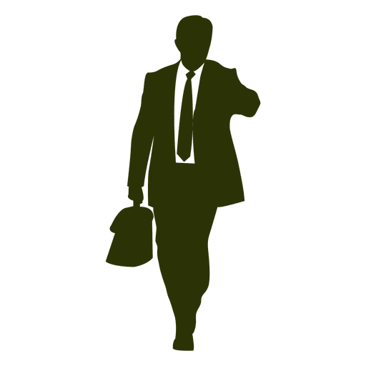 image royalty free Businessman checking time silhouette. Vector business person