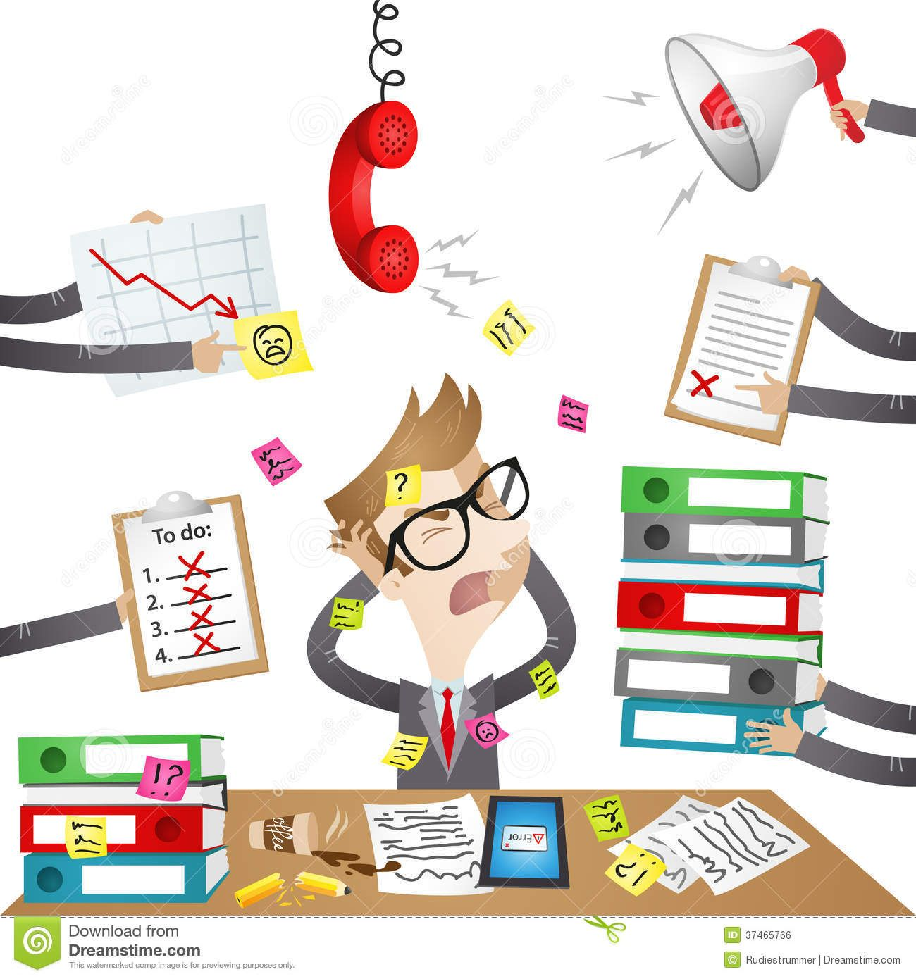 svg transparent Businessman clipart stressed. Cartoon character out royalty.